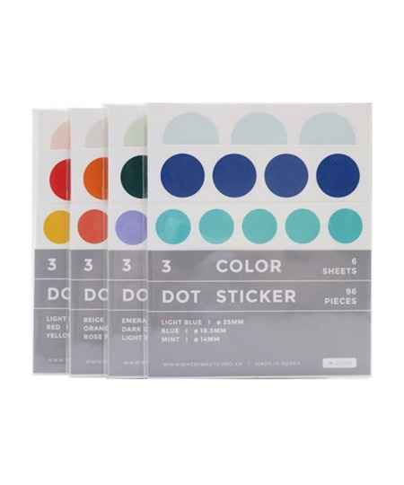 3 Color Dot Sticker